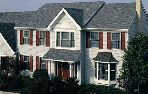 Example of a home with strip asphalt shingles