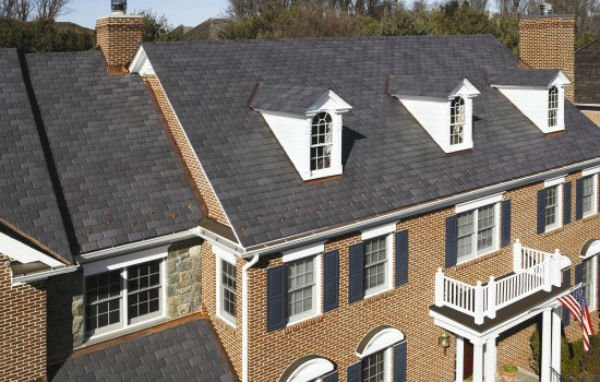 Home with asphalt shingles
