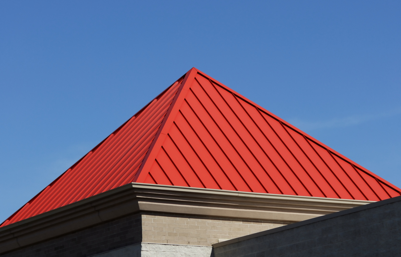 Pyramid roof example.