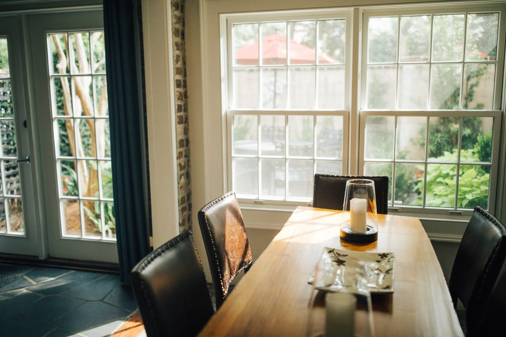 single hung dining room windows